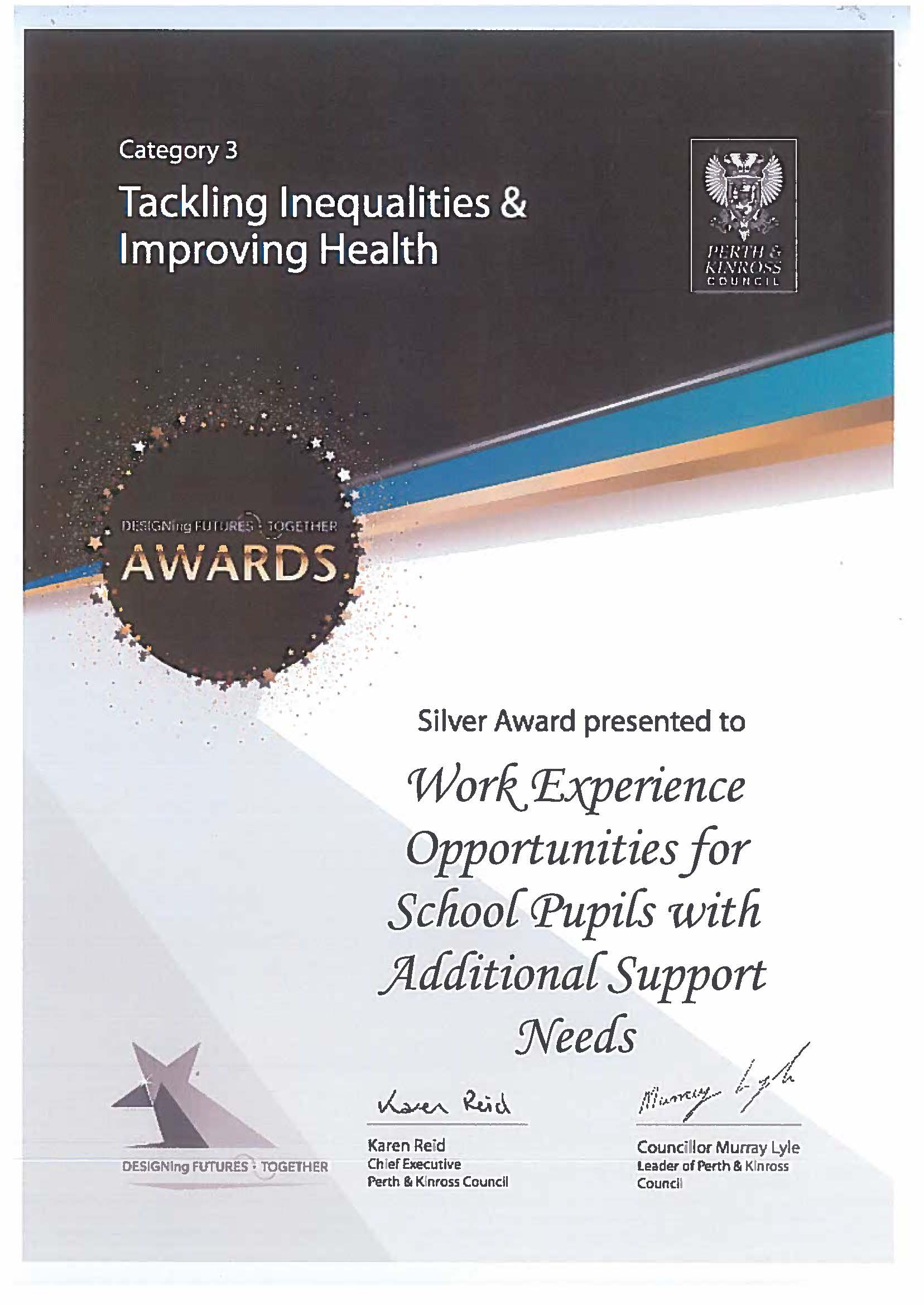 Tackling Inequalities and Improving Health Silver Award